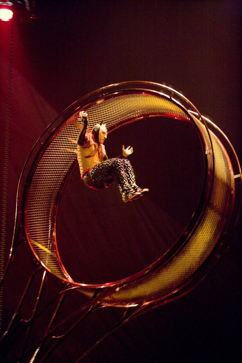 Cirque Du Soleil Wheel Of Death: WHEEL OF DEATH From Cirque Du Soleil's KOOZA