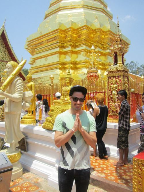 Gay Thailand - Chiang Mai temple - Benjamin Solomon Out Globetrotter