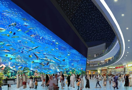 Dubai has opened the largest mall in the world. Inside among the designer ...